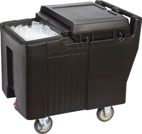 carrello portaghiaccio con ruote