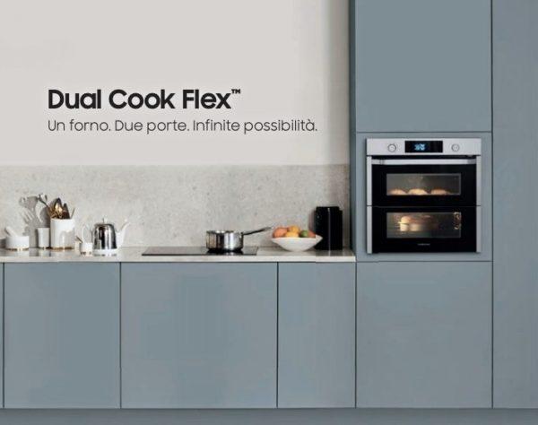 cucina con dual cooker